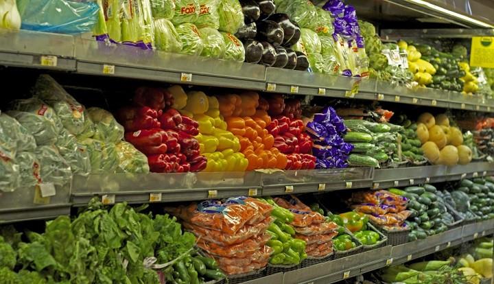 Vegetales en un supermercado