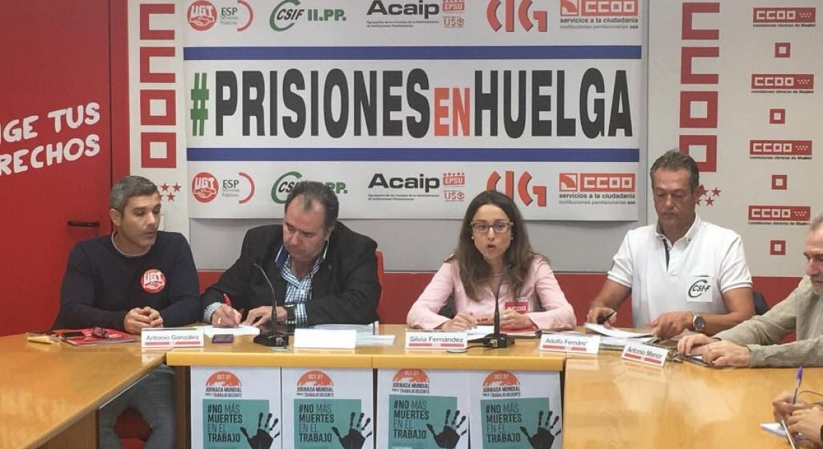 Prisones en Huelga Comisiones Obreras
