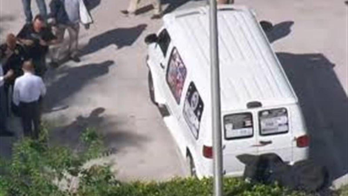 La furgoneta que el sospechoso detenido utilizaba