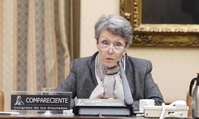 Rosa Maru00eda Mateo en la Comisiu00f3n Mixta de Control Parlamentario a RTVE Marta Fernu00e1ndez Jara