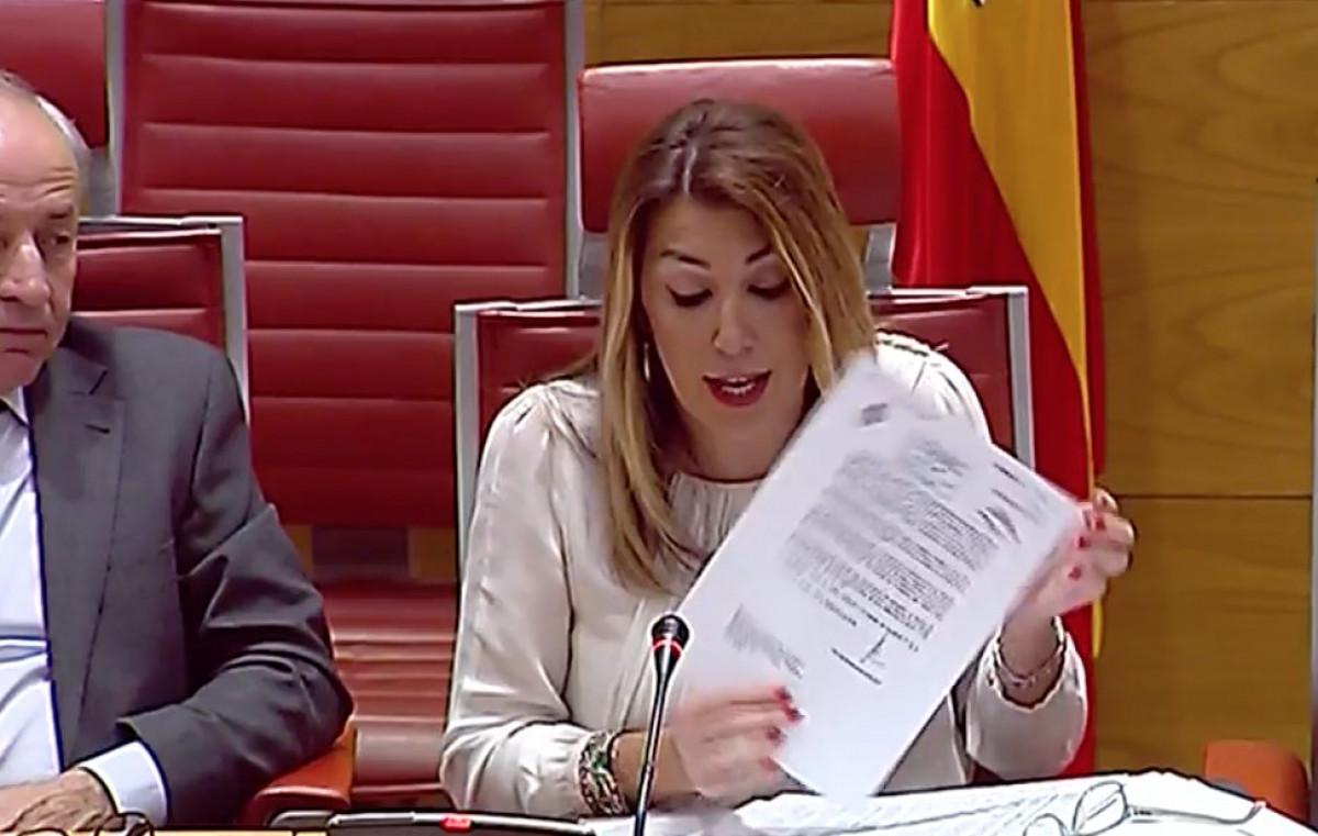 Susana Du00edaz en la comisiu00f3n de investigaciu00f3n en el Senado sobre la financiaciu00f3n de los partidos Oscar del Pozo