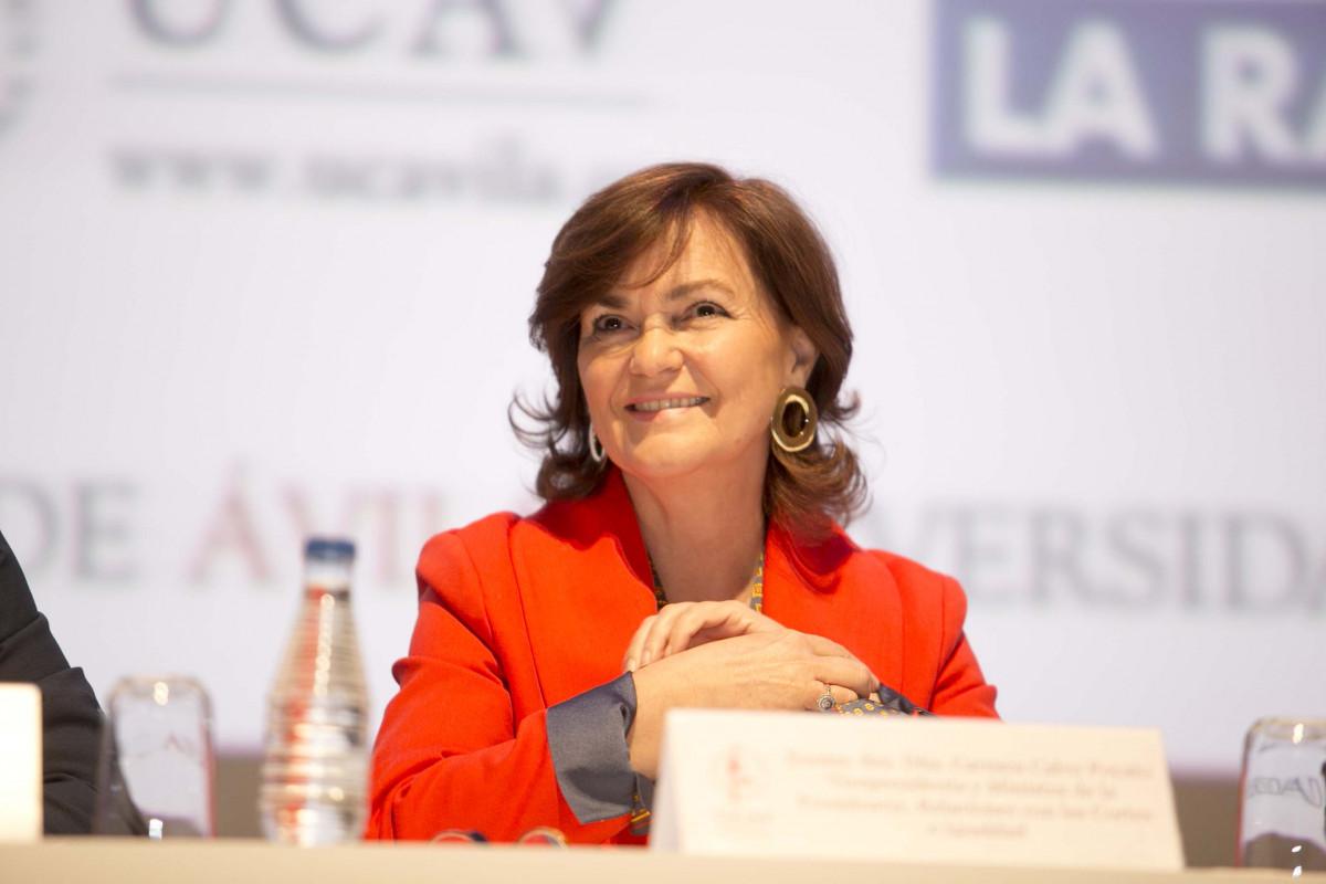 """Carmen Calvo participa en Ávila en las Jornadas """" La vigencia de la Constitución"""
