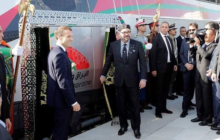El presidente francu00e9s Emmanuel Macron y el rey de Marruecos Mohammed VI inauguraron el jueves la primera lu00ednea de tren de alta velocidad de u00c1frica.