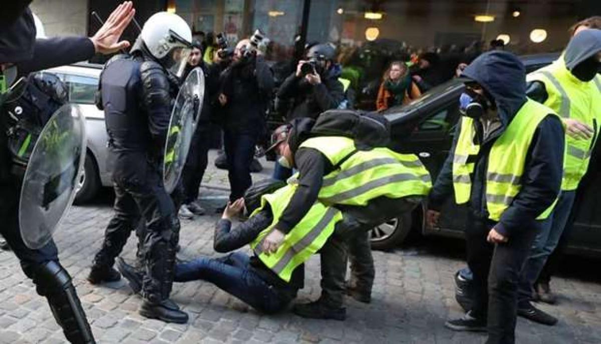 Chalecos amarillos en Bruselas