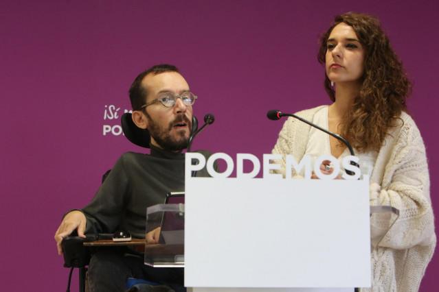 Rueda de prensa de Podemos tras el Consejo de Coordinación del partido