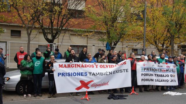 Concentración de sindicatos prisiones