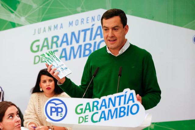 Juanma Moreno, hoy ante los medios