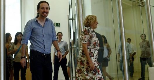 Pablo Iglesias y Manuel Carmena