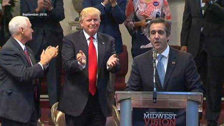 Michael Cohen con Donald Trump en 2016