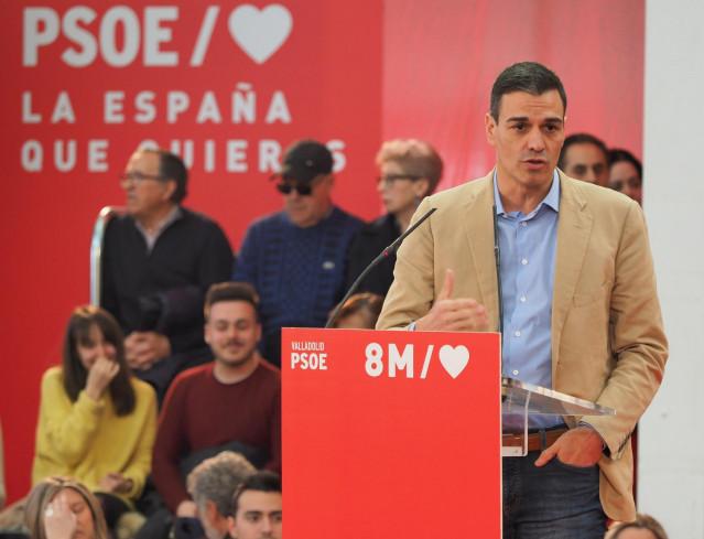 Acto del PSOECyL en Valladolid con el presidente del Gobierno, Pedro Sánchez