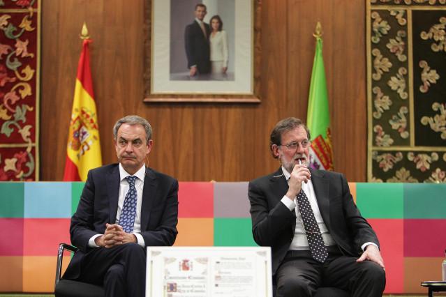 Zapatero y Rajoy en el 40 aniversario de la Universidad de León