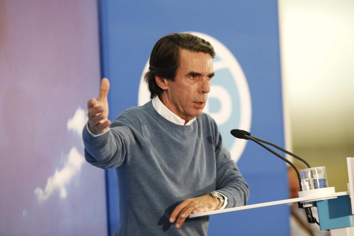 José María Aznar participa en un acto público del PP en Albacete