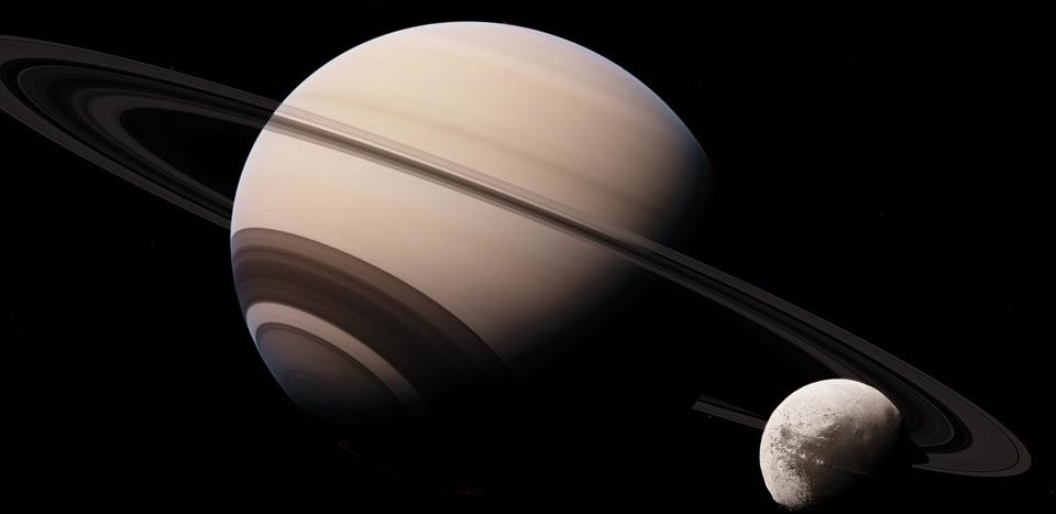 Una de las lunas de Saturno