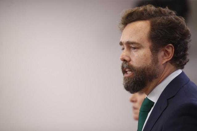 El portavoz del Grupo Parlamentario de VOX en el Congreso y cabeza del comité negociador, Iván Espinosa de los Monteros, en una imagen de archivo.