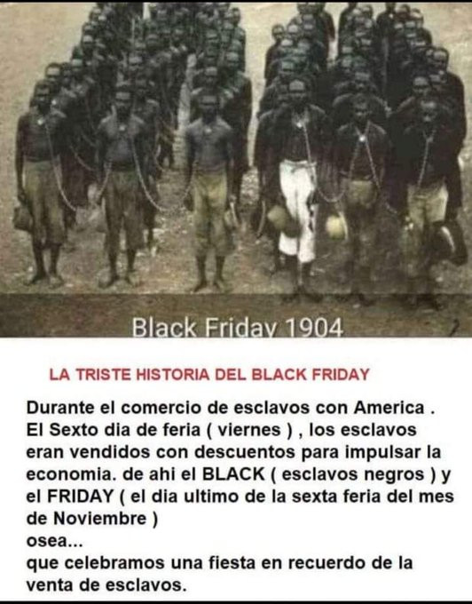 La hitoria falsa del Black Friday