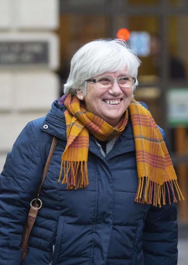 14 November 2019, Scotland, Edinburgh: Former Catalan politician and University of St Andrews professor Clara Ponsati