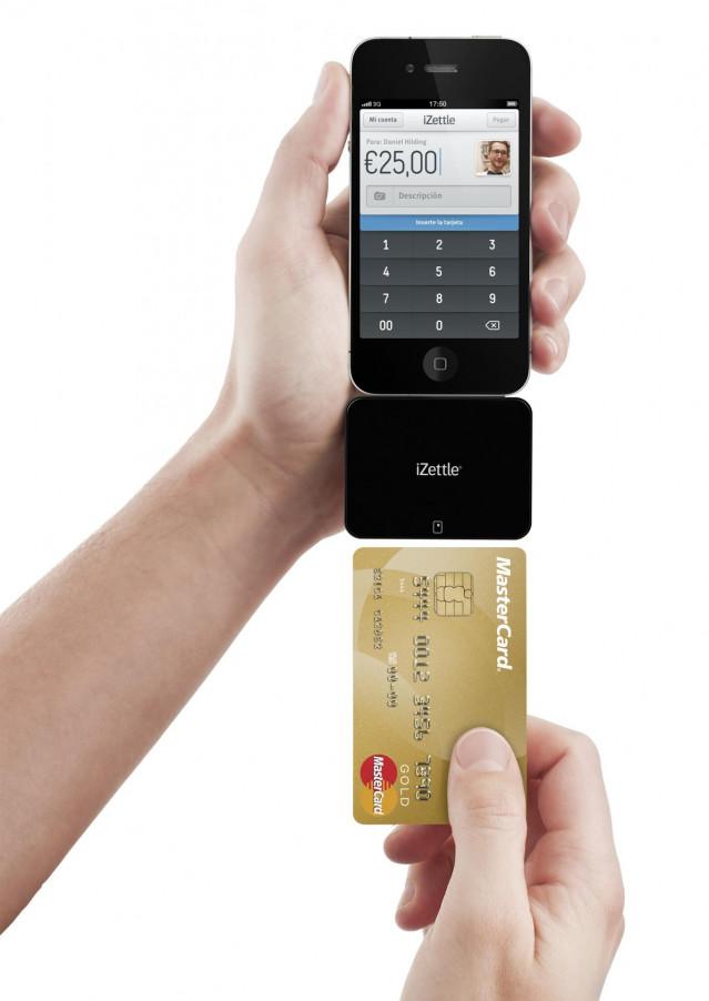 IZettle, sistema de pago con tarjeta a través del móvil iPhone smartphone