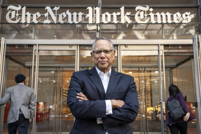 April 03, 2019 - New York, New York, United States: Dean Baquet, the Executive Editor of The New York Times, poses for a portrait at The New York Times building on 8th Avenue in Manhattan. (Natan Dvir / Contacto Images)