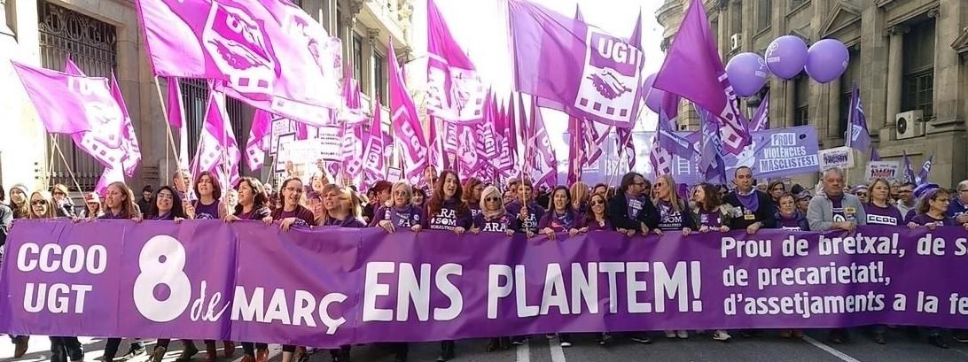 Manifestaciu00f3n 8m en barcelona