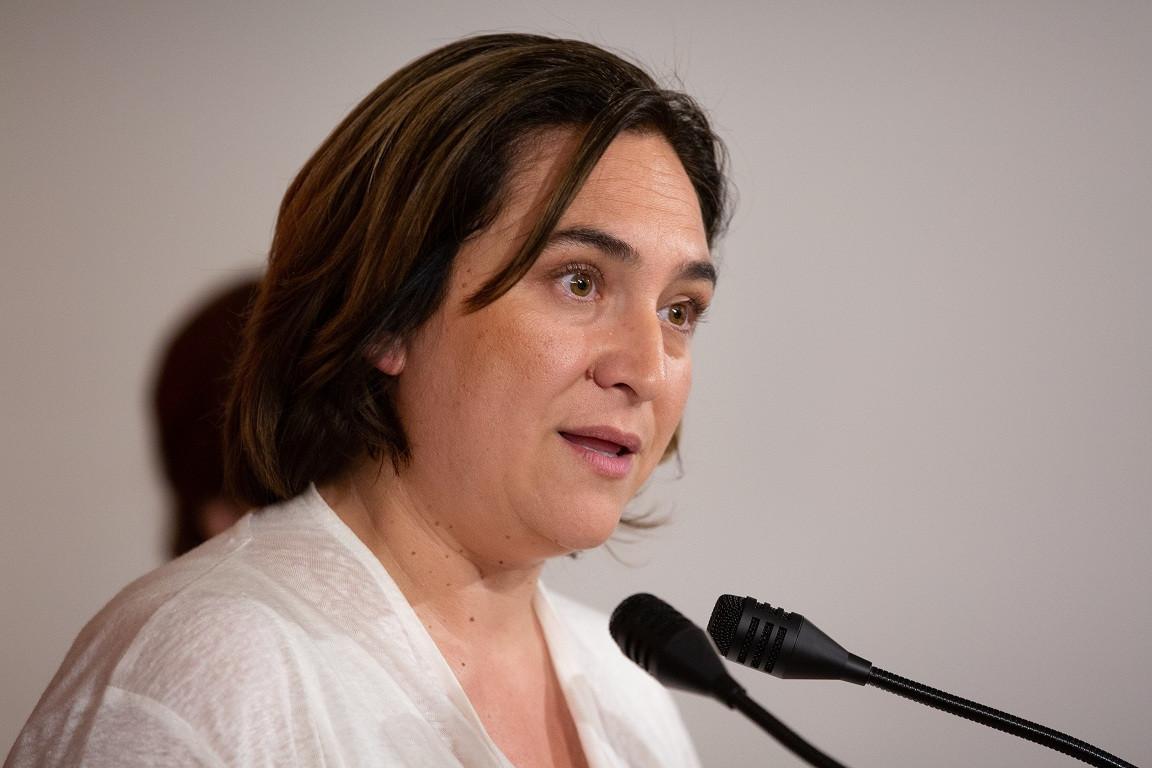 Rueda de prensa de la alcaldesa de Barcelona en funciones, Ada Colau