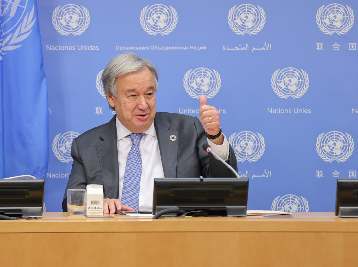 29 September 2020, US, New York: UN Secretary-General Antonio Guterres, delivers a press statement during the 75th session of the United Nations General Assembly. Photo: Luiz Rampelotto/ZUMA Wire/dpa