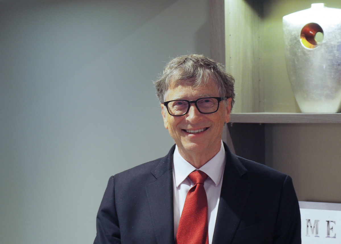 09 October 2019, France, Lyon: US Microsoft founder, Co-Chairman of the Bill & Melinda Gates Foundation, Bill Gates, attends the funding conference of Global Fund to Fight AIDS, Tuberculosis and Malaria. Photo: Christian Böhmer/dpa